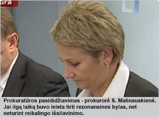 Rezonansinių bylų prokurorė S. Malinauskienė
