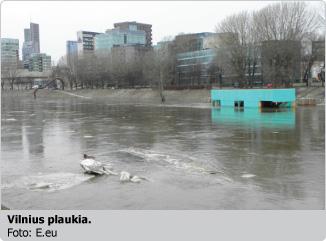 Vilnius plaukia
